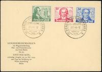 BERLIN 1949, MiNr. 61-63, amtlicher FDC, Befund Schlegel, Mi. 700,-