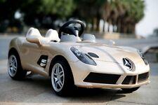 Voiture électrique pour bébé - Mercedes SLR 12V - Champagne métal