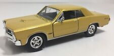Welly 1965 Pontiac Gto Gold Pullback Die Cast! Free Shipping