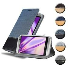 Case for HTC ONE M8 Phone Cover Denim Style Protective Wallet Book