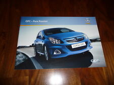 Opel OPC Gesamtprospekt 11/2008 Opel Corsa OPC / Astra OPC / Zafira OPC