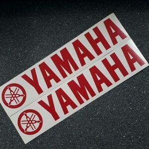 Yamaha RED 5in 12cm decal yzf fjr R3 R6 R1 yz fz09 fz Tenere set zuma 3 moto gp