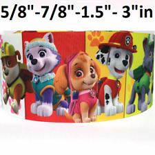 By The Yard 1 Inch Adorable Printed Dogs With Glasses Grosgrain Ribbon Lisa