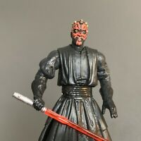 Star Wars Power of the Force Darth Maul Movie Hero Lightsaber Action Figure Toy