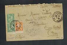 1924 La Pecherie Tunisia Censored Cover to Oran Algeria Military