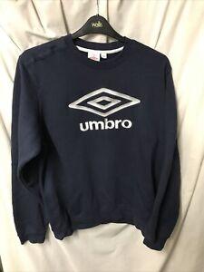 Umbro Vintage 90s Silver Spellout Logo Sweatshirt Jumper Size XL