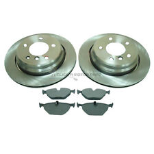 BMW 5 SERIES E39 1996-2003 530D REAR 2 VENTED BRAKE DISCS AND PADS SET (298MM)