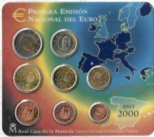 Pièces euro d'Espagne Année 2000