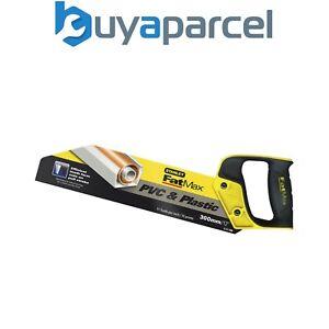 "Stanley 300mm 12"" 11TPI FatMax PVC Plastc Hand Saw 5-17-206 STA517206 STA217206"