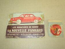 485Q Vintage Norev Boite Vide Origine Incomplète pour Panhard Dyna Z 54 1:43