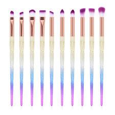 10PCS Diamond Unicorn Eyeshadow Eyebrow Blending Brush Set Eye Make-up Brushes