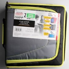 "NEW Five Star Zipper Binder + Tech Pocket, 2"", Yellow Black, 12-3/4"" x 12"" NWT"
