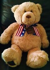 Gund 2002 Wish Bear 100th Anniversary Plush Teddy Bear Patriotic May Dept Stores