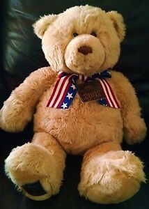 Gund 2002 Wish Bear 100th Anniversary Plush Teddy Bear Patriotic May Dept Stores