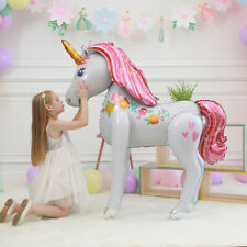 Einhorn XXL 116cm Geburtstag Party Kinder Luftballons Helium pferde Folienballon