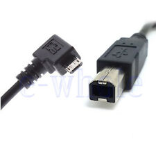 Micro USB To USB B Type Data Cable For OTG Mobile Tablet Hub USB Printer HD TW