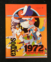 (12) 1972 MONTREAL EXPOS  MLB BASEBALL YEARBOOKS LOT HIGH GRADE