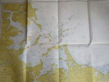 vintage NAUTICAL CHART BOSTON HARBOUR MA MASSACHUSETTS 1970 ATLANTIC COAST map