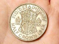 1943 George VI  Half Crown Coin  #MR37
