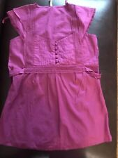 *NEW* LADIES DEEP PINK TOP / SHIRT FROM PEACOCKS, UK SIZE 10