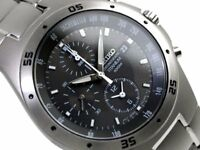 SEIKO SND419 SND419P1 Titanium Army Military 100m New in Box Grey #