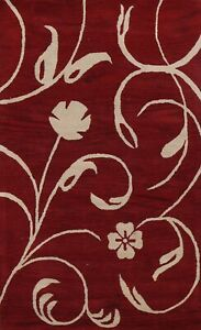 Floral Contemporary Oriental Area Rug Hand-Tufted Wool NEW Home Decor Carpet 5x8