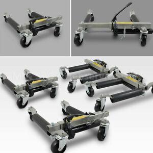 4x BITUXX Rangierhilfen Rangierheber hydraulisch Wagenheber PKW Rangierroller