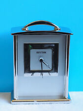 New Rhythm Chrome Plated Carriage Style Shelf/Desk Decorative Alarm Clock
