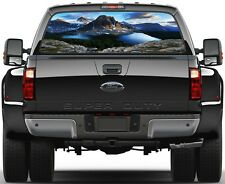 Mountains and Lakes  Rear Window Graphic Decal Sticker Tint Truck SUV