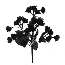 240 Mini Open Roses Gothic Black Silk Wedding Centerpieces Flowers