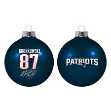 New England Patriots Rob Gronkowski NFL Boelter Glass Christmas Ornament 2 5/8""