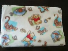 Classic Pooh Receiving Blanket Fleece Pooh And Piglet Tigger Yellow Green Lovey