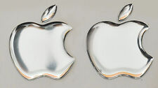 2 X 3D Espejo,Abovedado Apple Logo Pegatinas para Iphone,Ipad Funda. Tamaño
