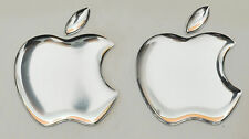 2 x 3d SPECCHIO, a cupola Apple logo adesivi per iPhone, iPad Cover. Taglia 35x30mm.