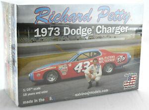"Salvino JR Models ""STP"" Richard Petty 1973 Dodge Charger 1/25 Model Car Kit"