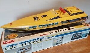 Boxed Kyosho Jet Stream 800 RC off shore Speed Boat Project Boat