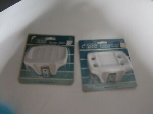 Vintage Porcelain Wall Mount Soap dish and toothbrush holder white NEW!