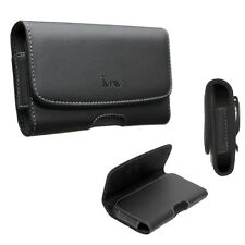 Extra Large Size Leather Pouch Case w/Belt Clip Holster For LG Stylo 3/ LS777
