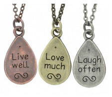 "BRIA KATE 18"" NECKLACE ""LIVE WELL LOVE MUCH LAUGH OFTEN"" TRIPLE PENDANT KCBKP505"