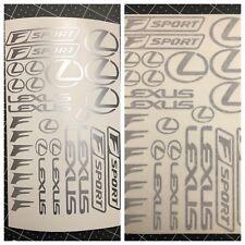 27pc Lexus F Sport Assortment Vinyl Sticker Decal Logo Graphic Emblem ES LS IS