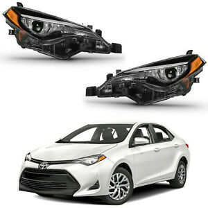 For 2017 2018 2019 Toyota Corolla LE CE Headlight Assembly LED Passenger Driver
