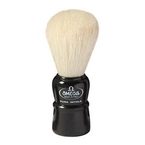 Small Shaving Brush Black Omega Pig Bristles Pure Brushes Natural Bristles
