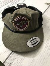 Rare Volcam Hat SnapBack Corduroy Skate Board Trucker Stonemade Carrier Cheese