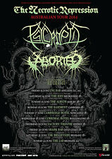 PSYCROPTIC + ABORTED The Necrotic Repression 2014 Australian Tour Poster A2 *NEW