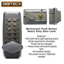 Outdoor Heavy Duty Mechanical Push Button Door Code Lock HMO Flats Landlords
