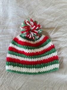 Handmade Infant Holiday Crochet Hat/Beanie NEW