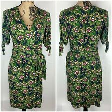 Lilly Pulitzer Silk Vintage Wrap Dress RARE Nutty Professor Floral Print Size S