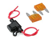 New inline Mini Blade fuse holder and x5 mini fuses, car, van, motorbike 5A Fuse