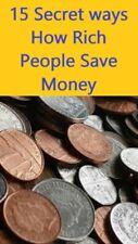 15 Secret ways How Rich People Save Money PDF