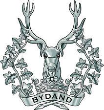 Incorniciato militare britannica INSIGNIA stampa-GORDON HIGHLANDERS (CAP badge Esercito Art)
